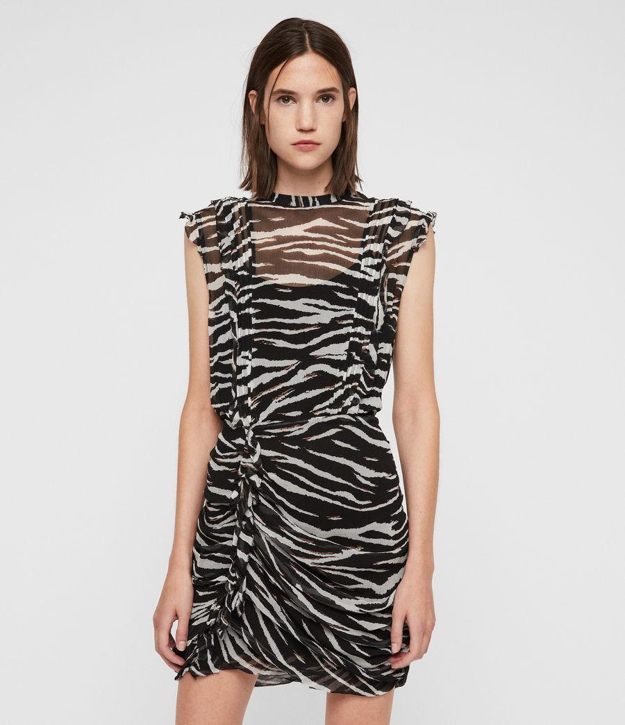 Women's Hali Tiger Dress (black_chalk_white) - Image 4