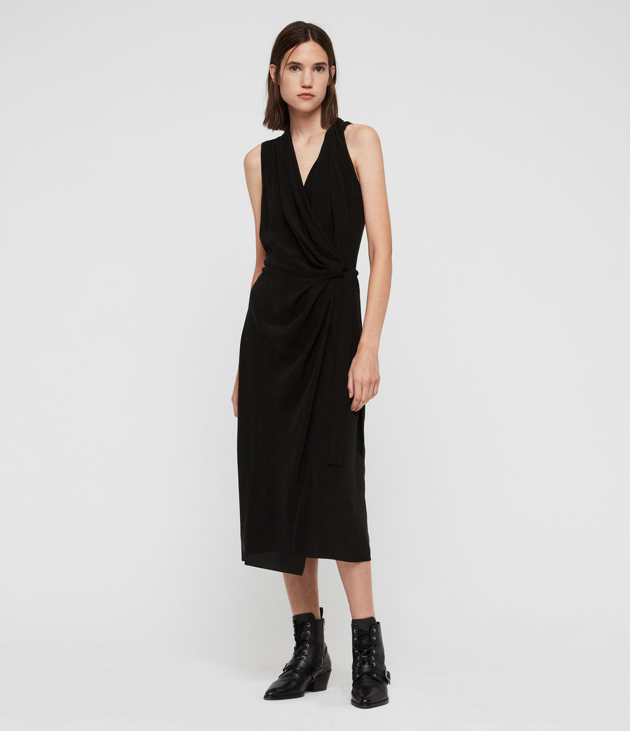 Women's Syrah Long Dress (black) - Image 1