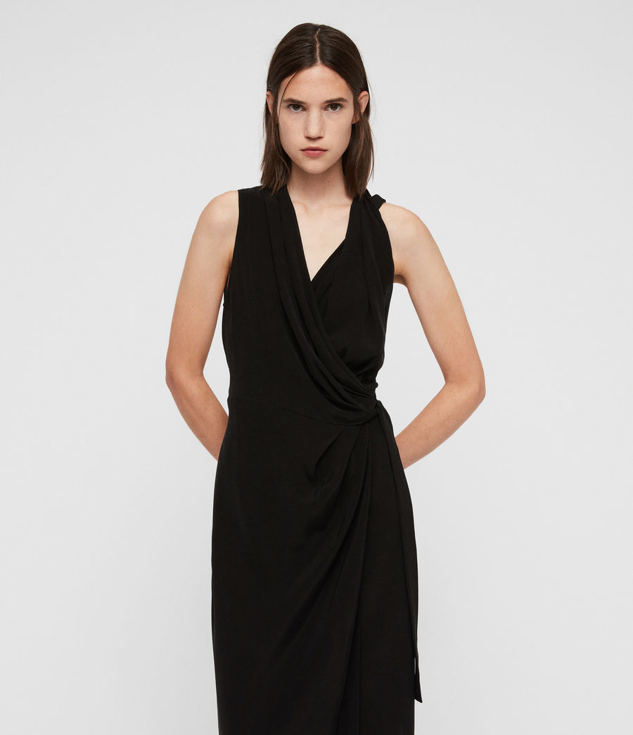 Women's Syrah Long Dress (black) - Image 2