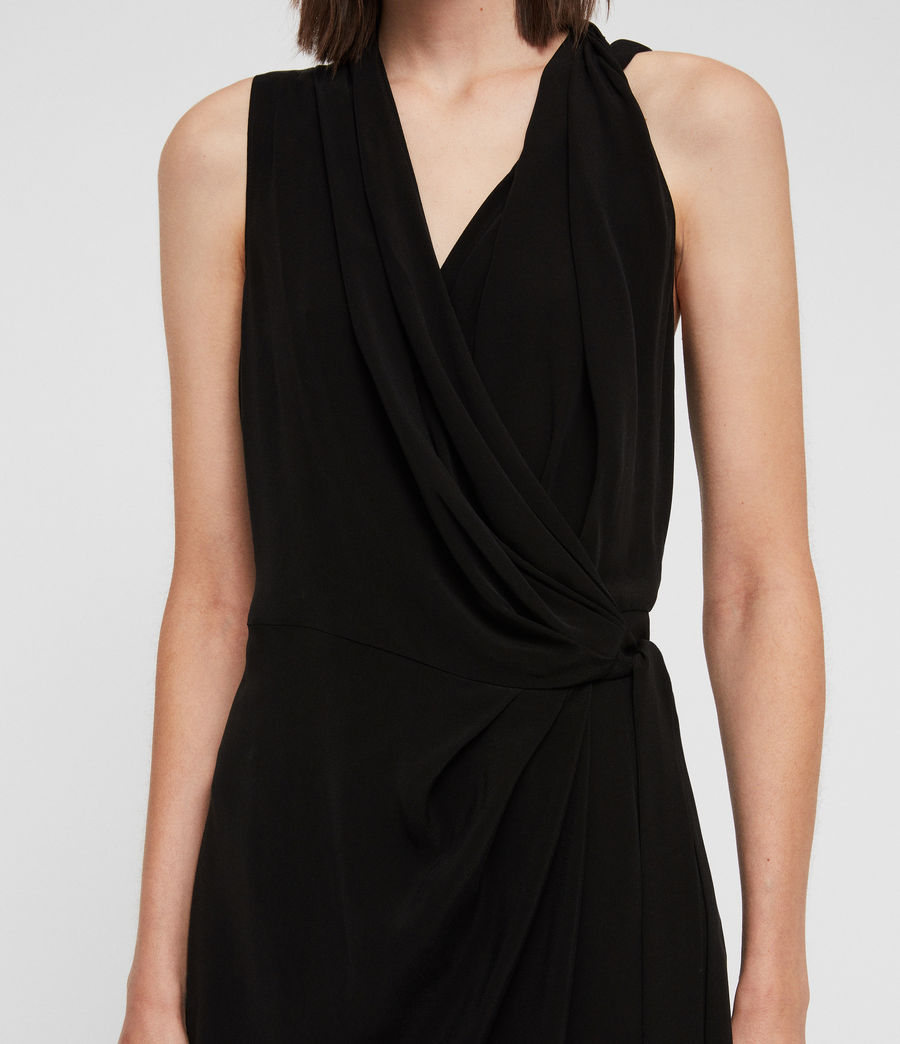 Women's Syrah Long Dress (black) - Image 3