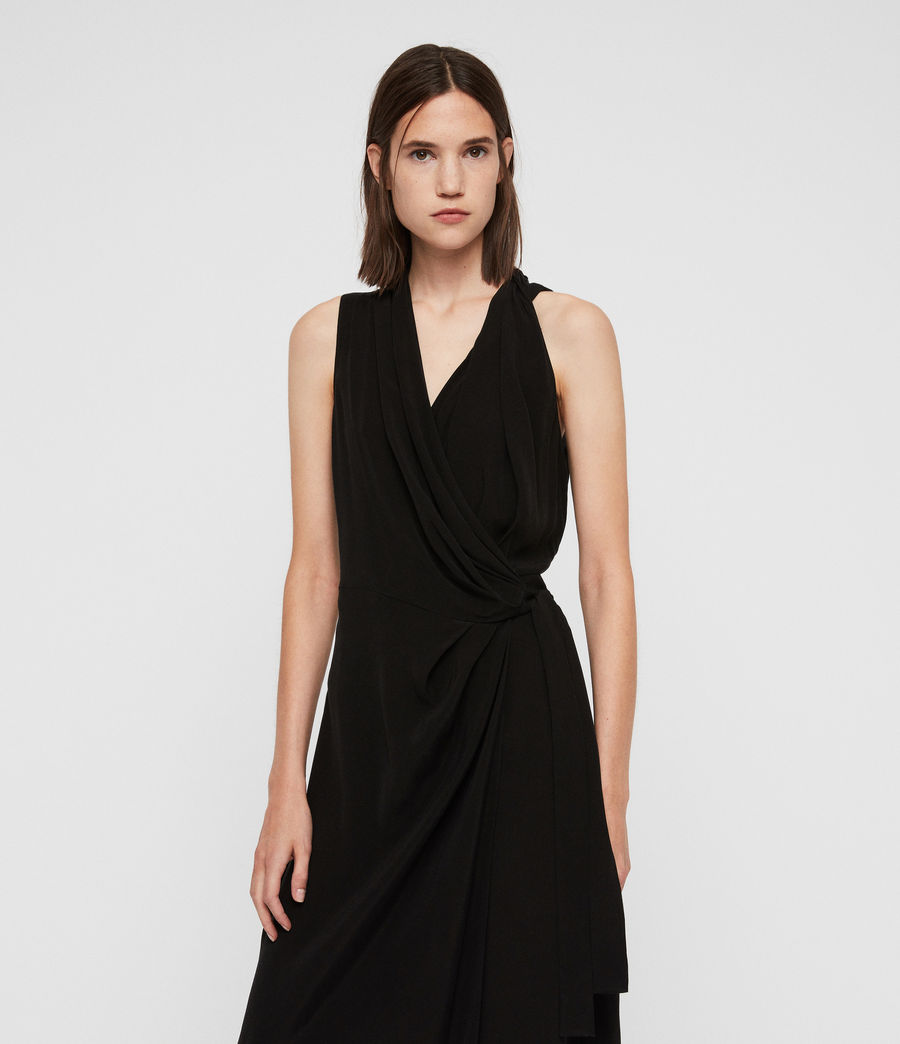 Women's Syrah Long Dress (black) - Image 4