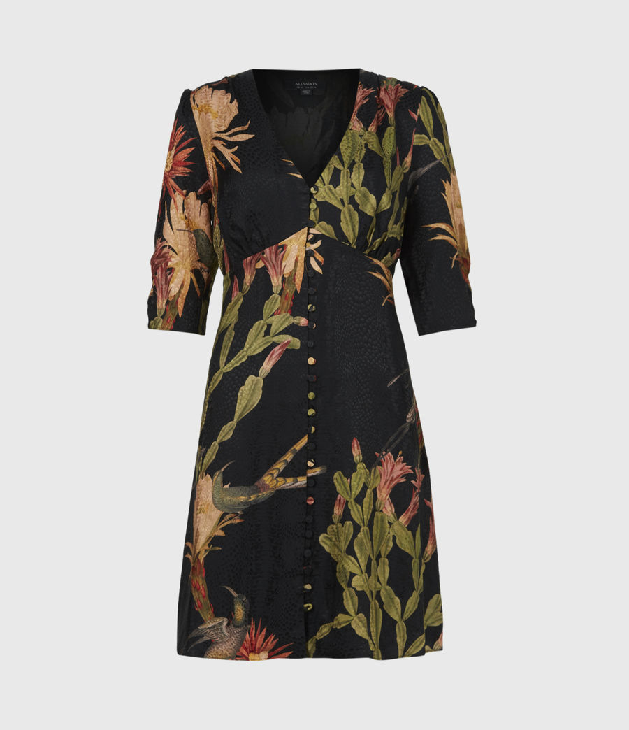 Womens Kota Nolina Silk-Blend Dress (black) - Image 2