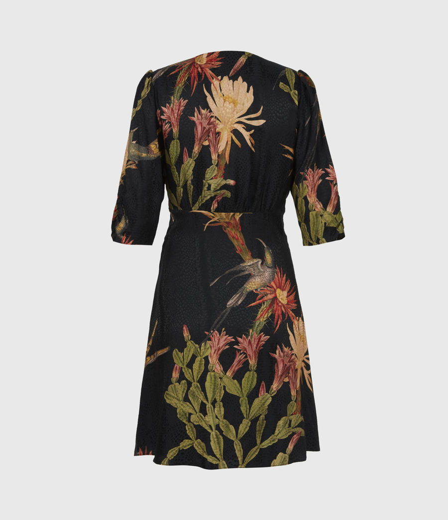 Womens Kota Nolina Silk-Blend Dress (black) - Image 3