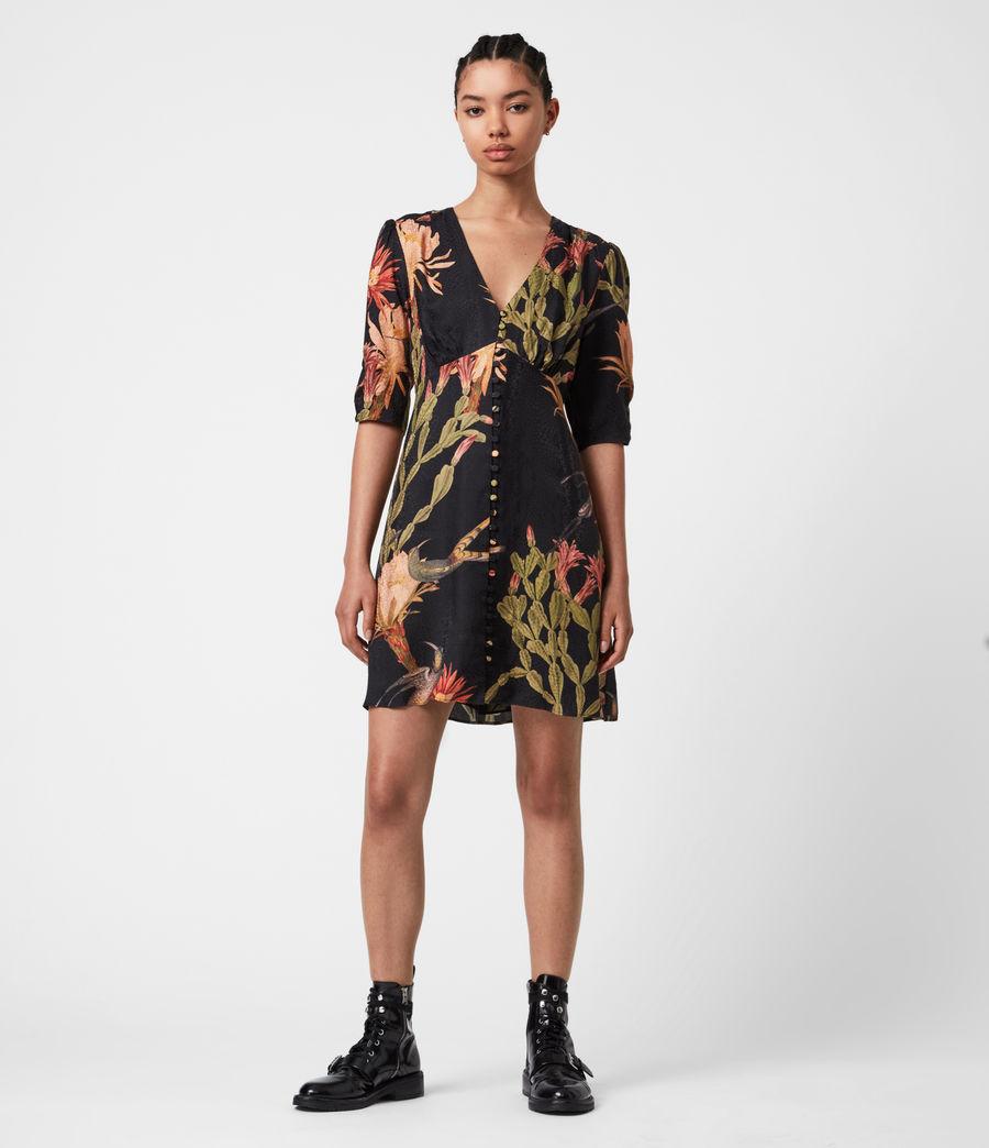 Womens Kota Nolina Silk-Blend Dress (black) - Image 4