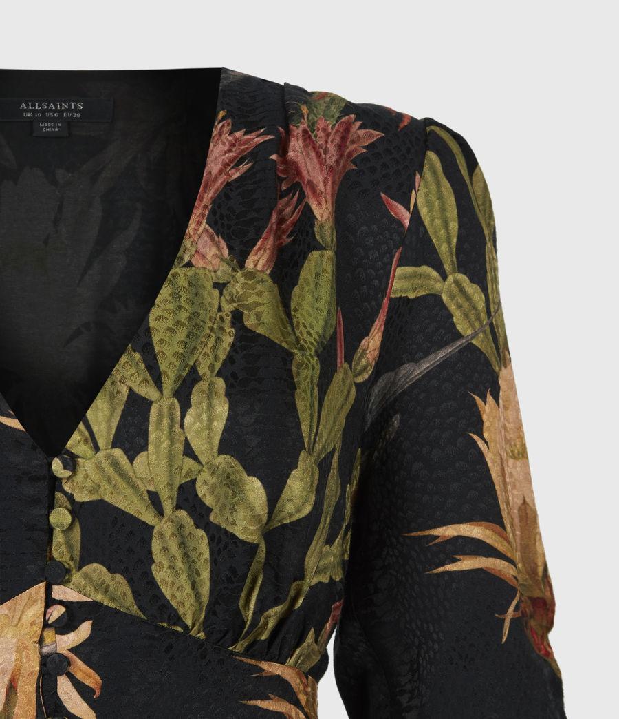 Womens Kota Nolina Silk-Blend Dress (black) - Image 5