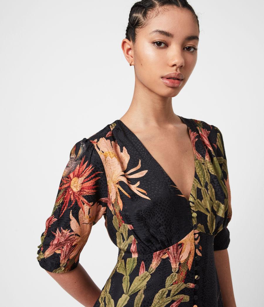 Womens Kota Nolina Silk-Blend Dress (black) - Image 6