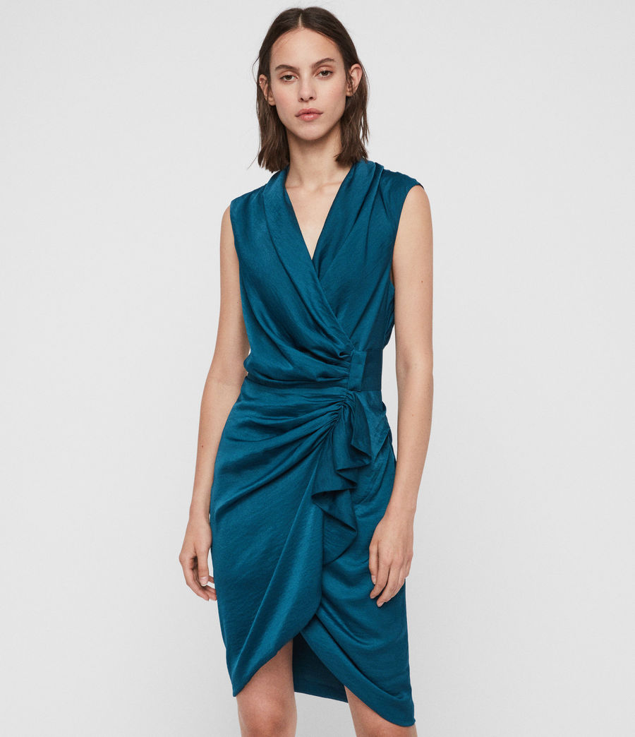 Women's Cancity Dress (petrol_blue) - Image 1