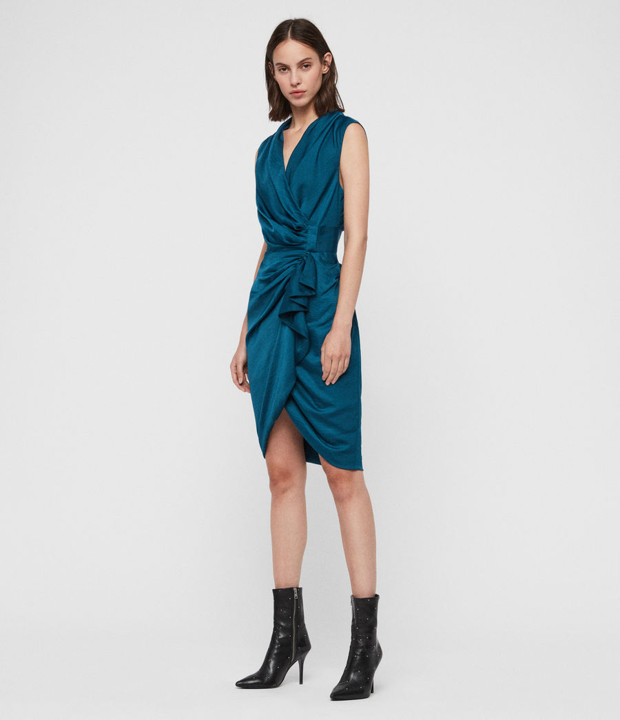 Women's Cancity Dress (petrol_blue) - Image 3
