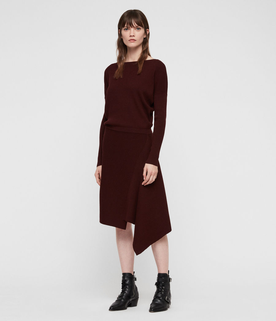 Damen Suke Kleid (dark_rust_red) - Image 1