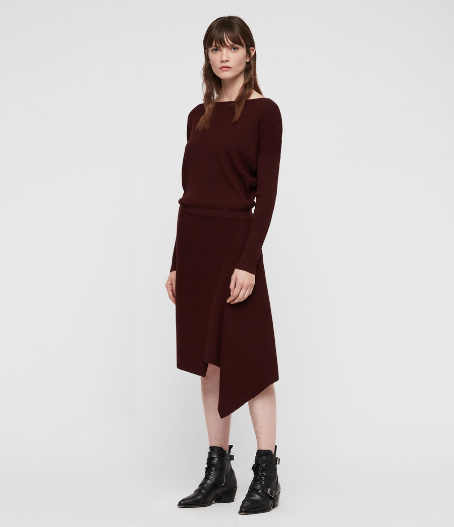 Women's Suke Dress (dark_rust_red) - Image 3