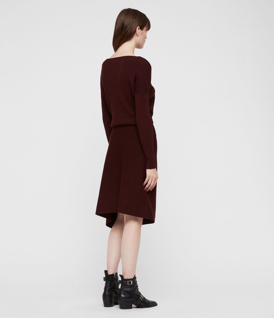Damen Suke Kleid (dark_rust_red) - Image 6