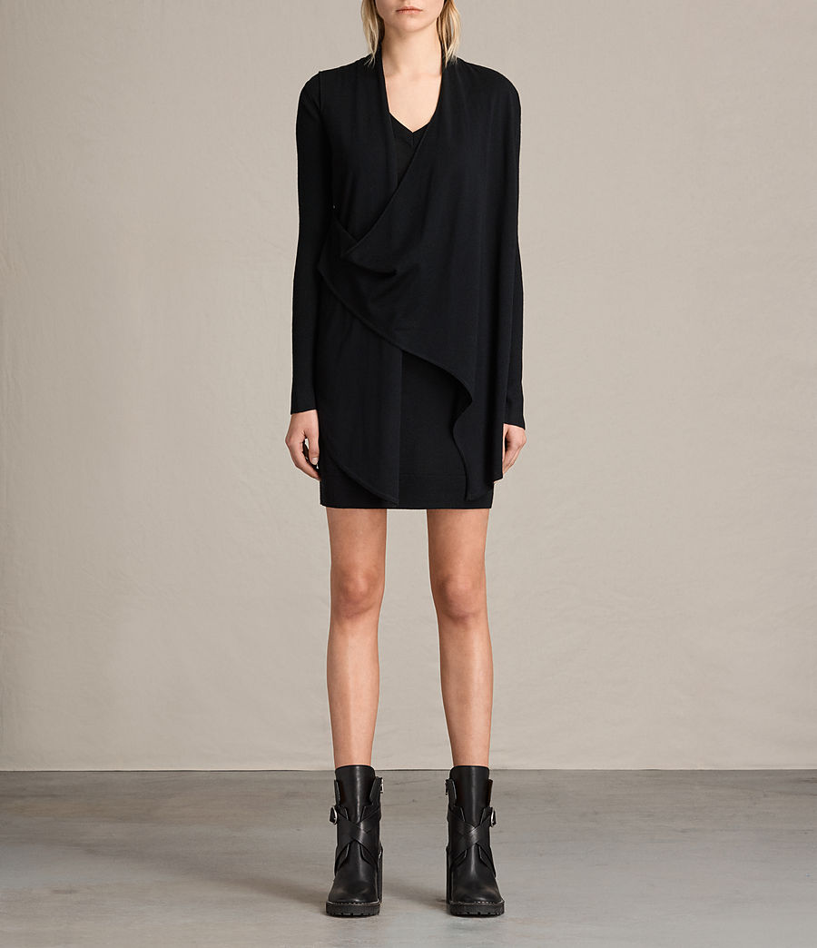 Womens Drina V-Neck Dress (black) - Image 1