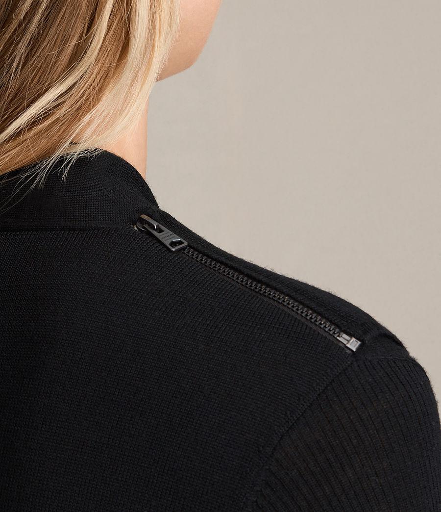 Womens Drina V-Neck Dress (black) - Image 2