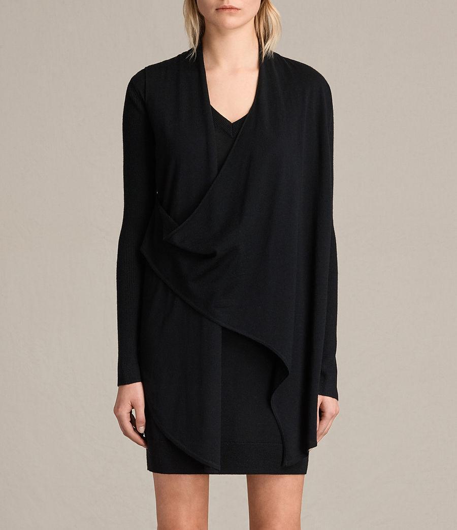 Womens Drina V-Neck Dress (black) - Image 4