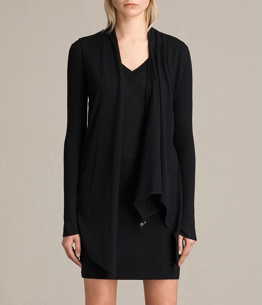 Womens Drina V-Neck Dress (black) - Image 5