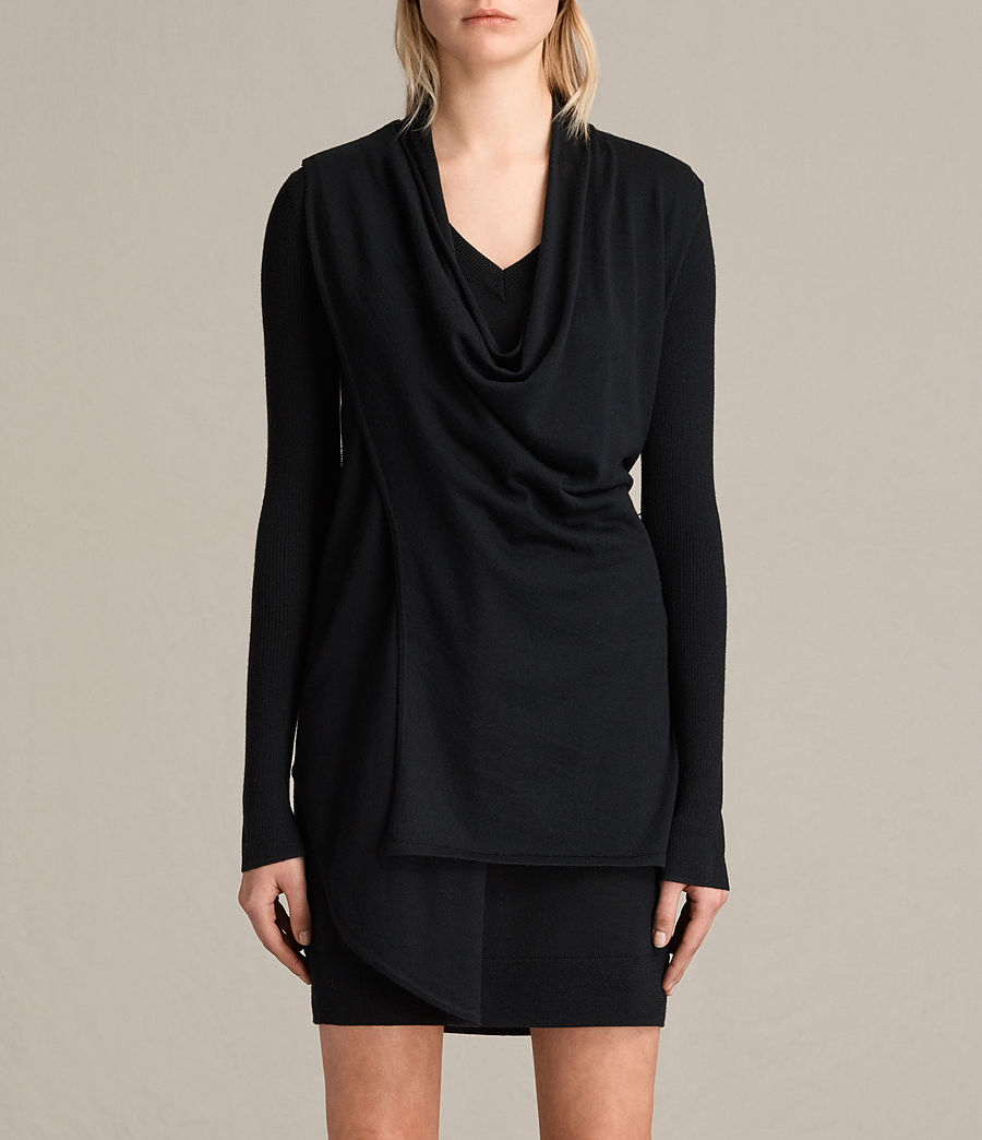 Womens Drina V-Neck Dress (black) - Image 6