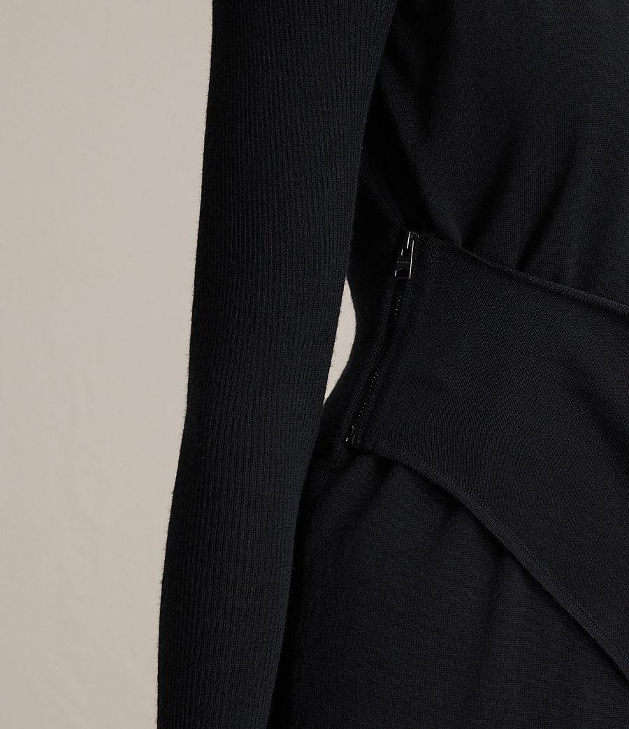Womens Drina V-Neck Dress (black) - Image 7