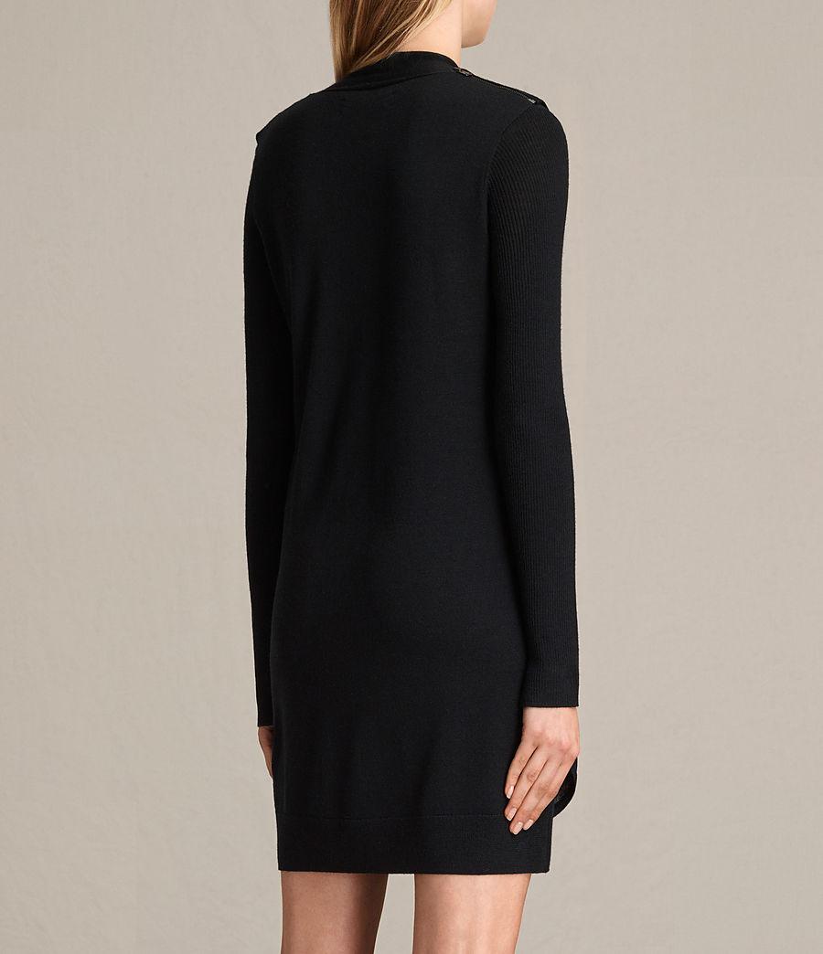 Womens Drina V-Neck Dress (black) - Image 8
