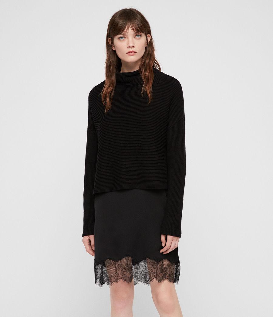 Womens Eloise Funnel Neck Dress (black) - Image 1