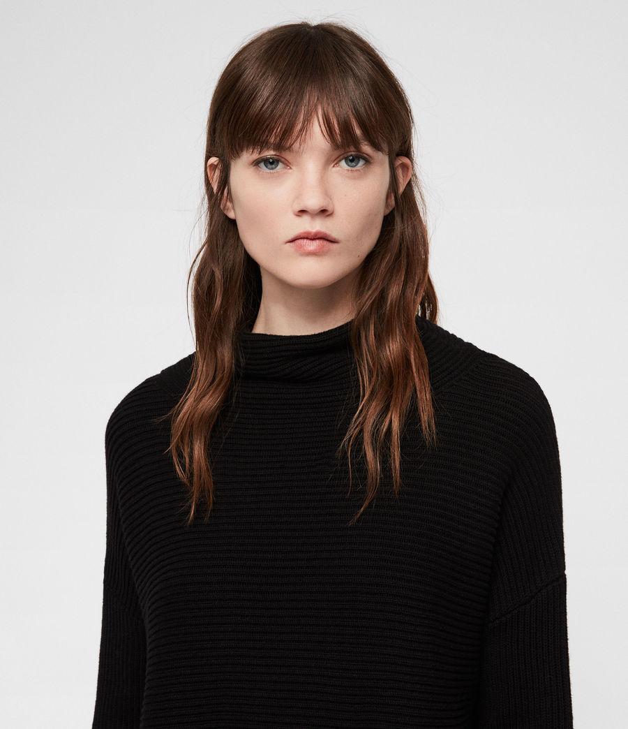 Womens Eloise Funnel Neck Dress (black) - Image 2
