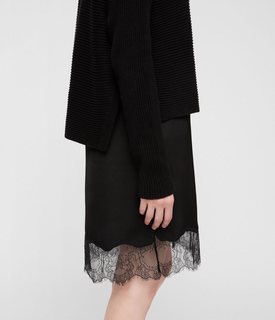 Womens Eloise Funnel Neck Dress (black) - Image 4