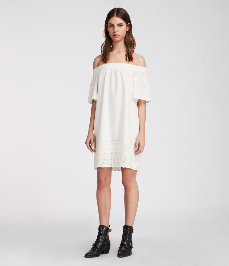 Womens Livia Trixi Dress (chalk_white) - Image 1
