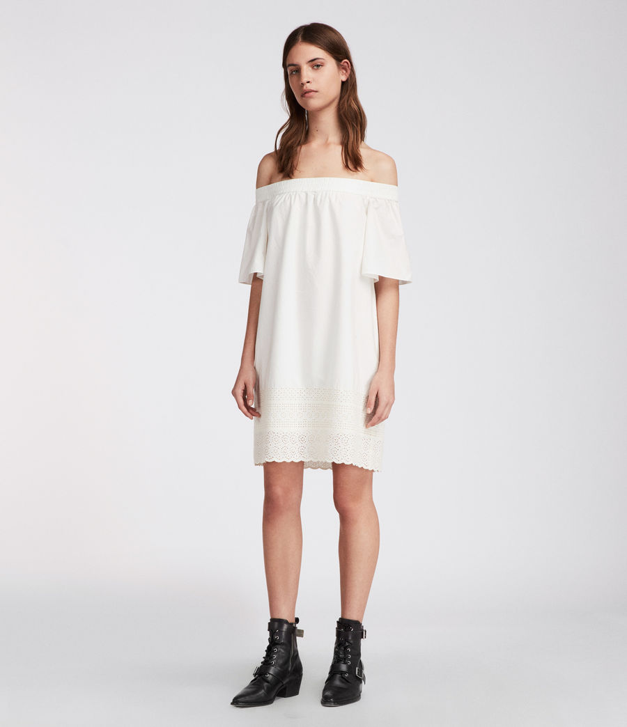 Womens Livia Trixi Dress (chalk_white) - Image 4
