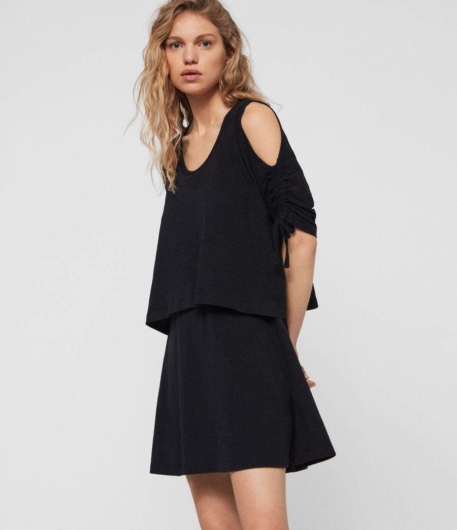 Women's Harper T-Shirt Dress (black) - Image 3