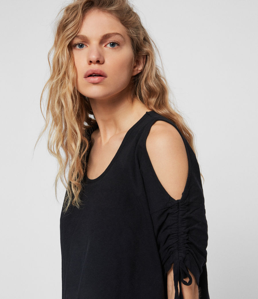 Women's Harper T-Shirt Dress (black) - Image 4