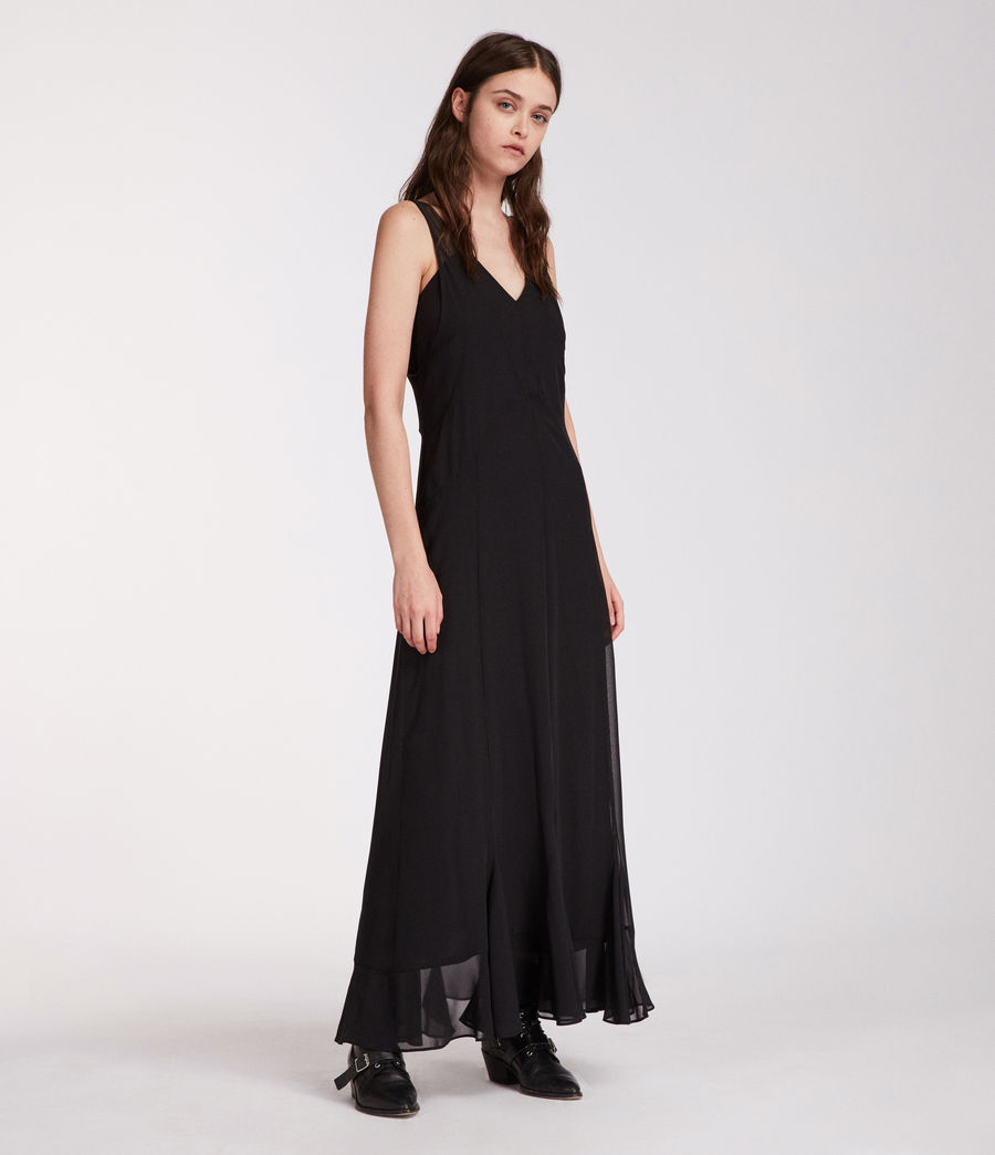 Women's Cleo Long Dress (black) - Image 1