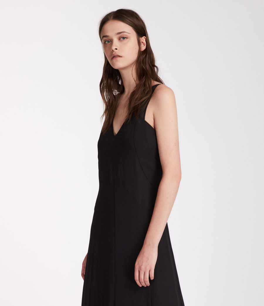 Women's Cleo Long Dress (black) - Image 2
