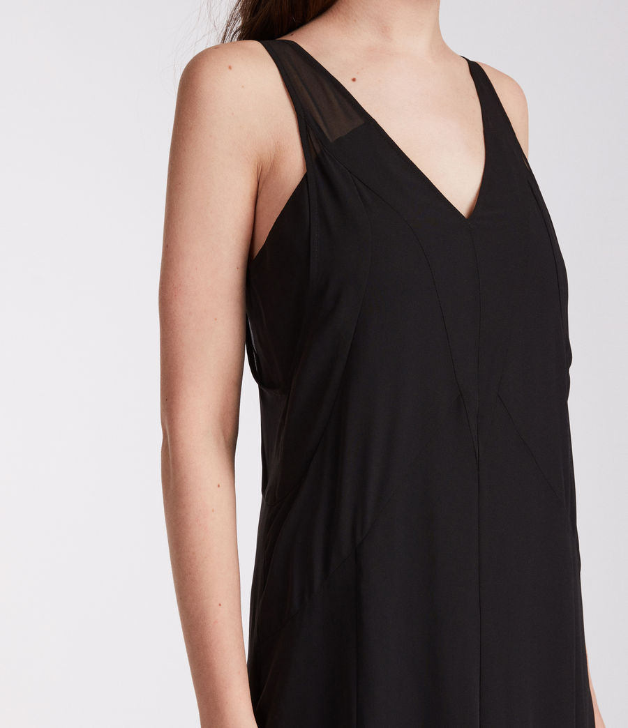 Women's Cleo Long Dress (black) - Image 3