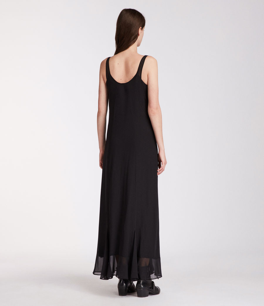 Women's Cleo Long Dress (black) - Image 5