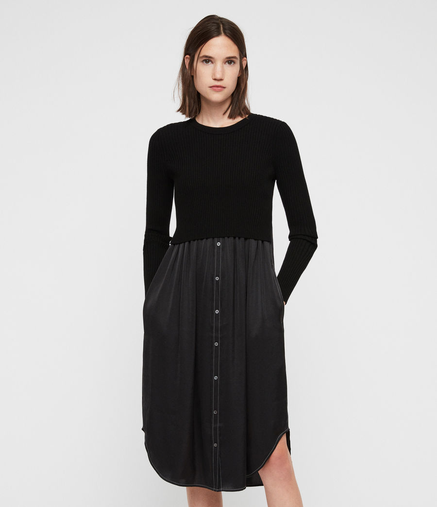 Donne Kowlo Shirt Dress (black) - Image 1