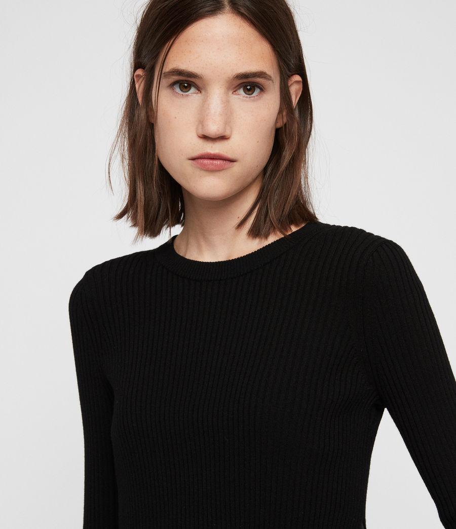 Women's Kowlo Shirt Dress (black) - Image 2