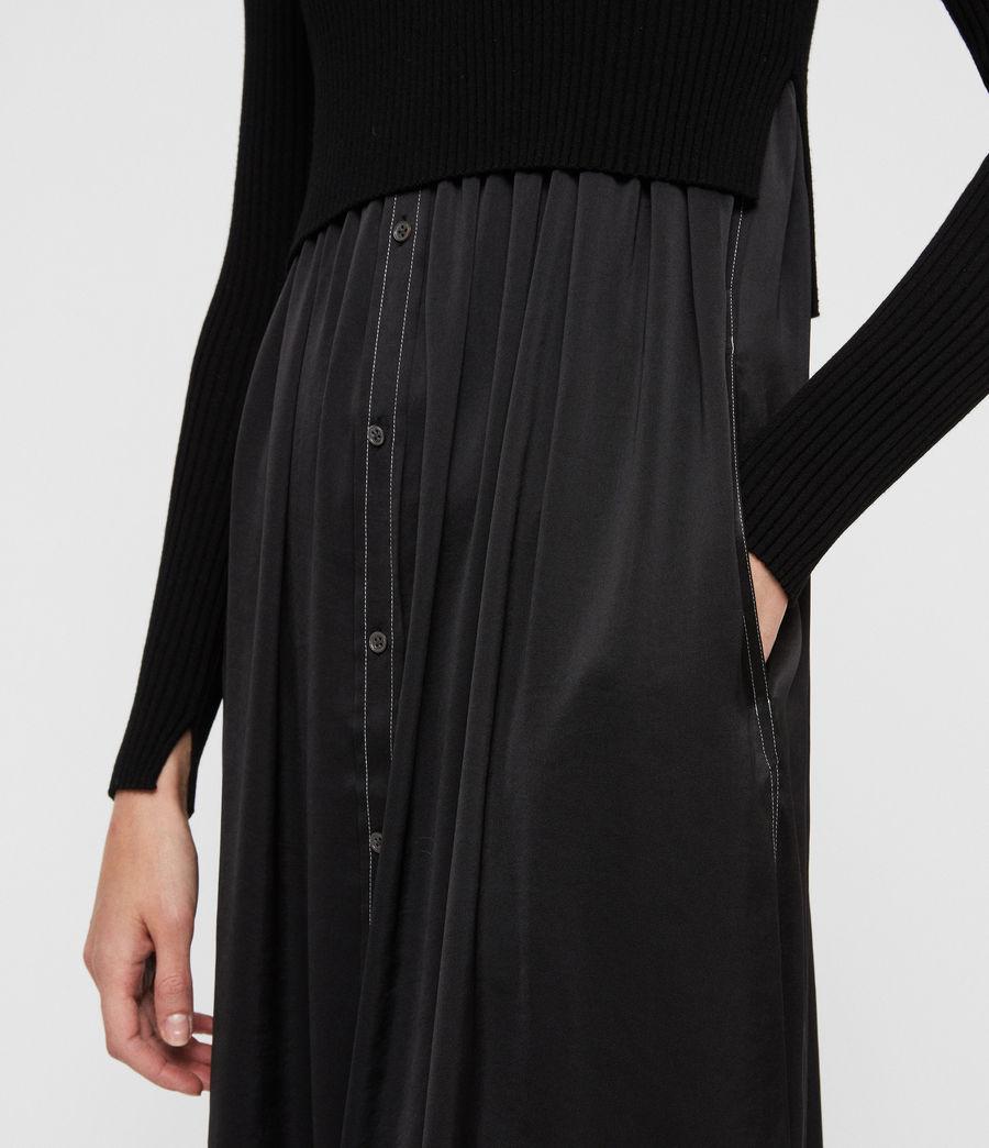 Women's Kowlo Shirt Dress (black) - Image 3