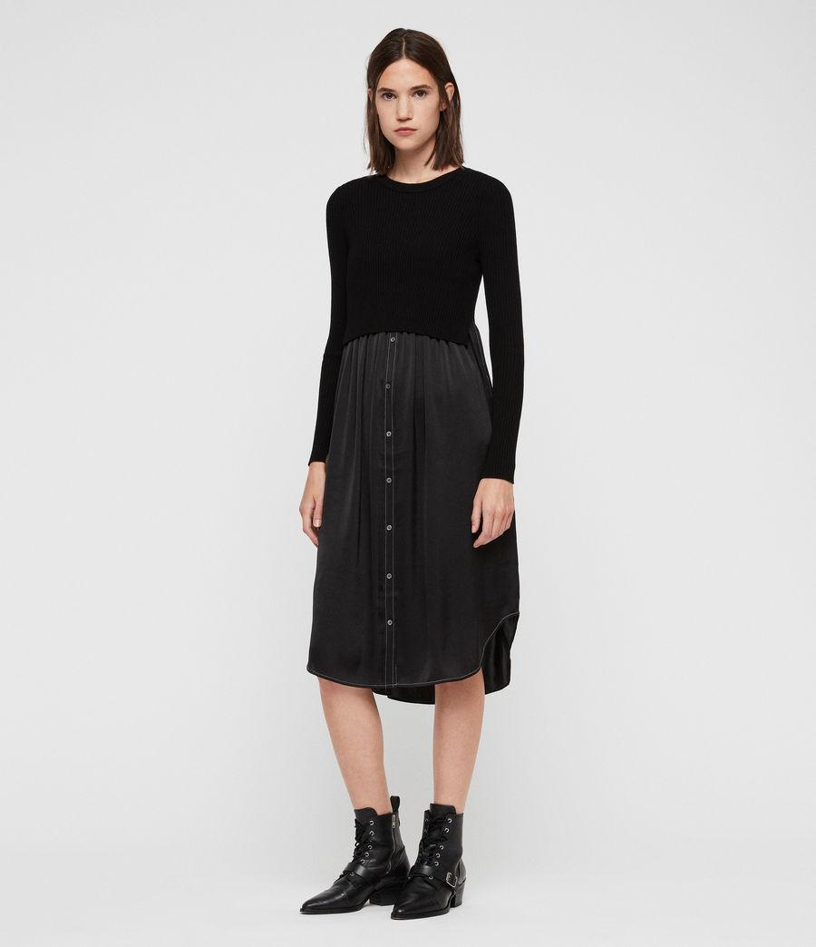 Women's Kowlo Shirt Dress (black) - Image 4