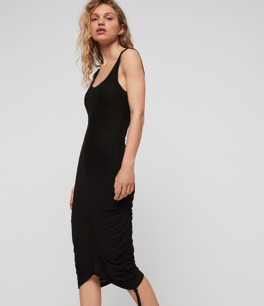 Womens Ola Dress (black) - Image 2