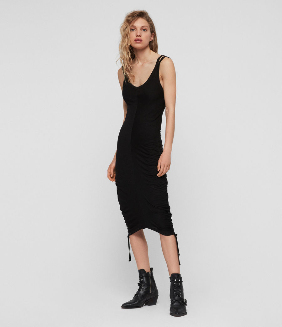 Womens Ola Dress (black) - Image 3