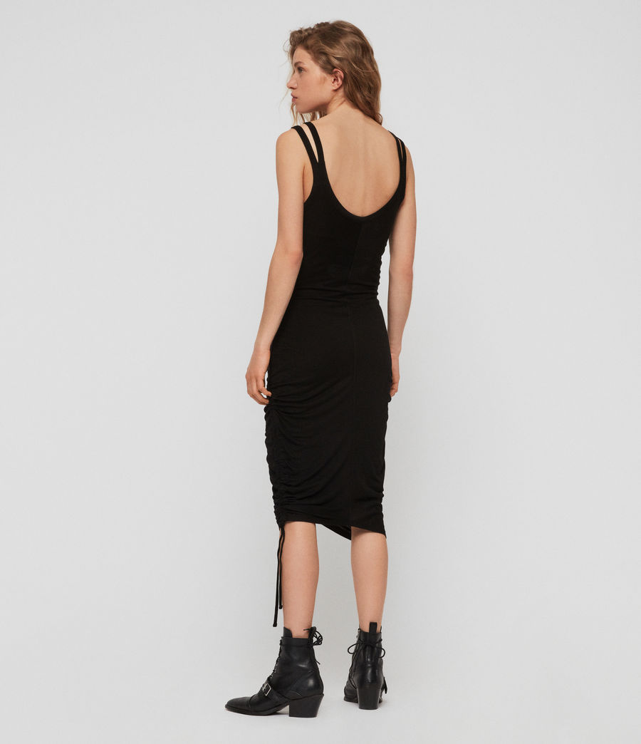 Womens Ola Dress (black) - Image 6