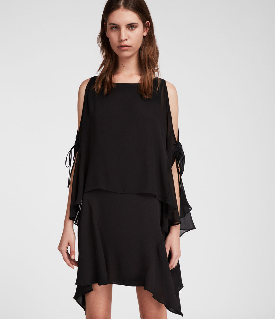 Women's Ella Sheer Dress (black) - Image 1