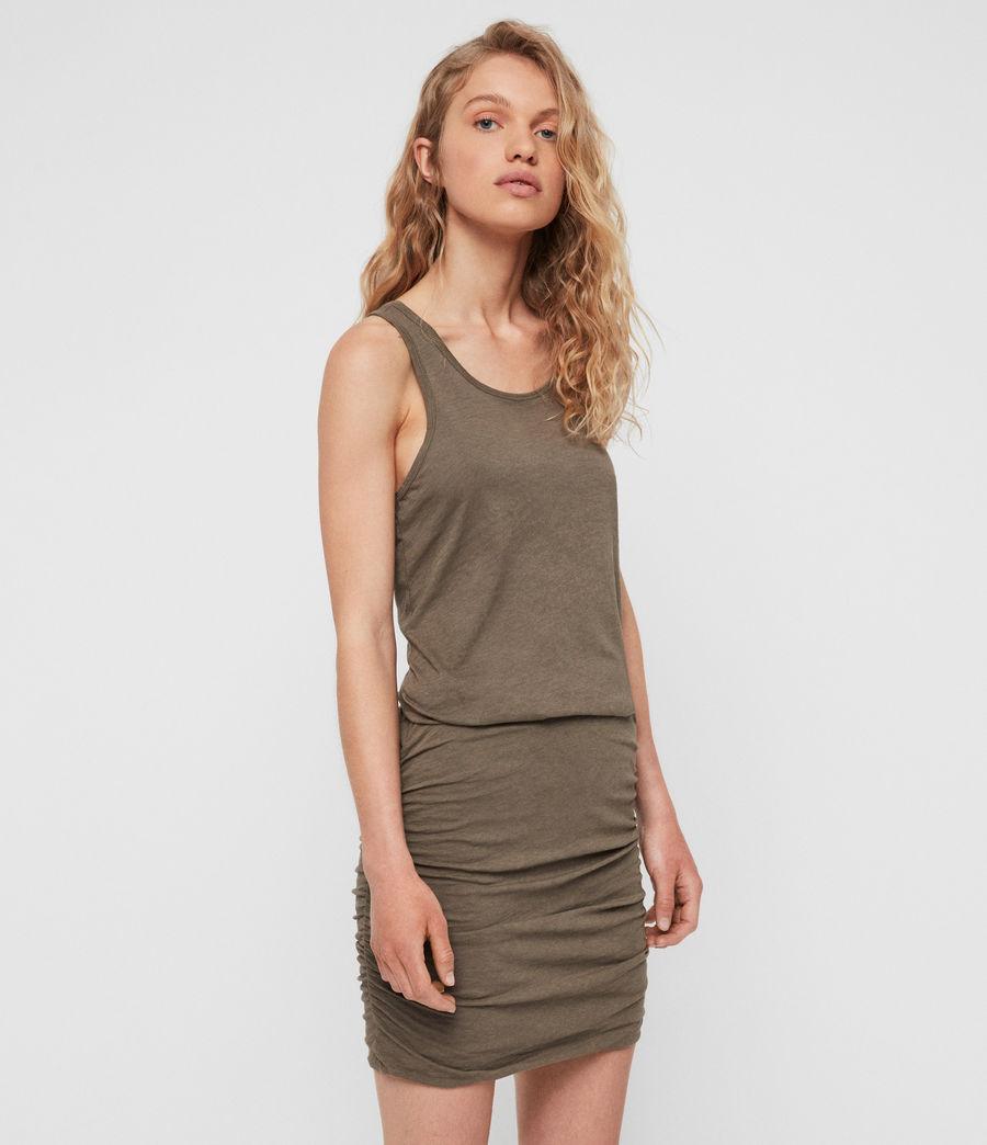 Mujer Vestido Toby (khaki_green) - Image 1