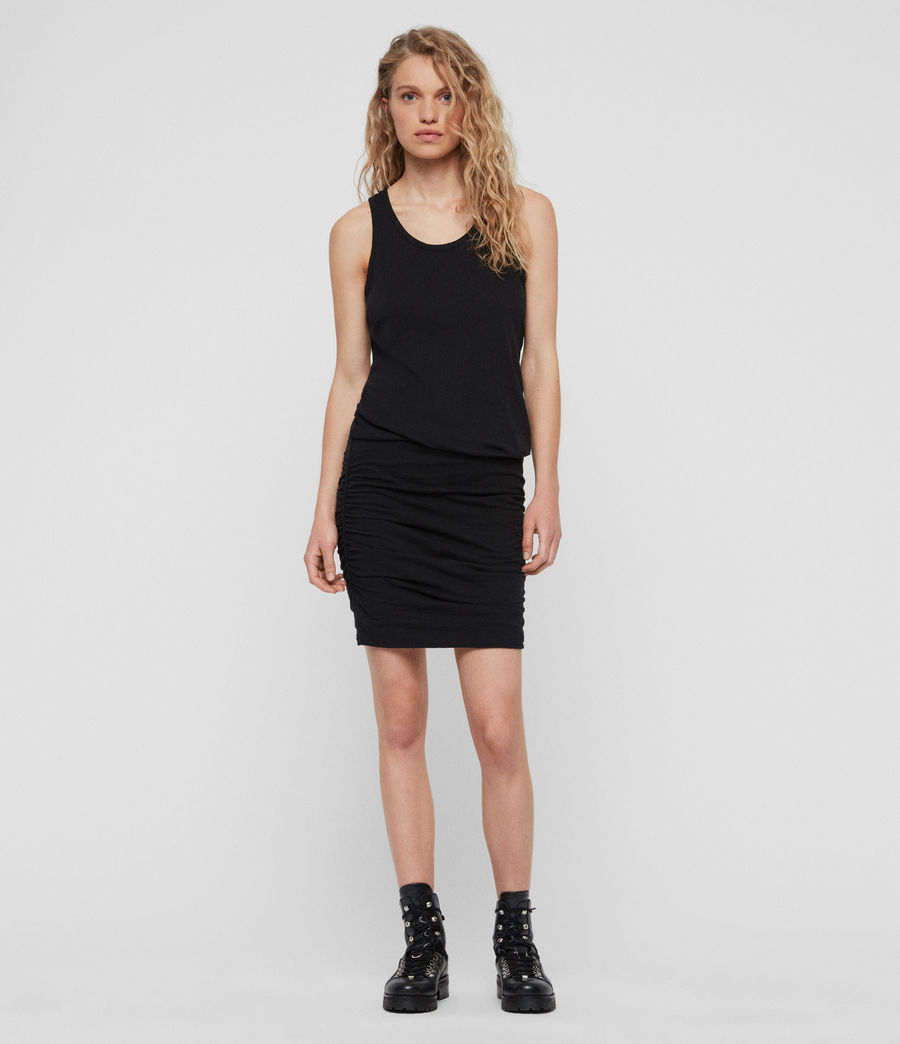 Womens Toby Dress (black) - Image 2