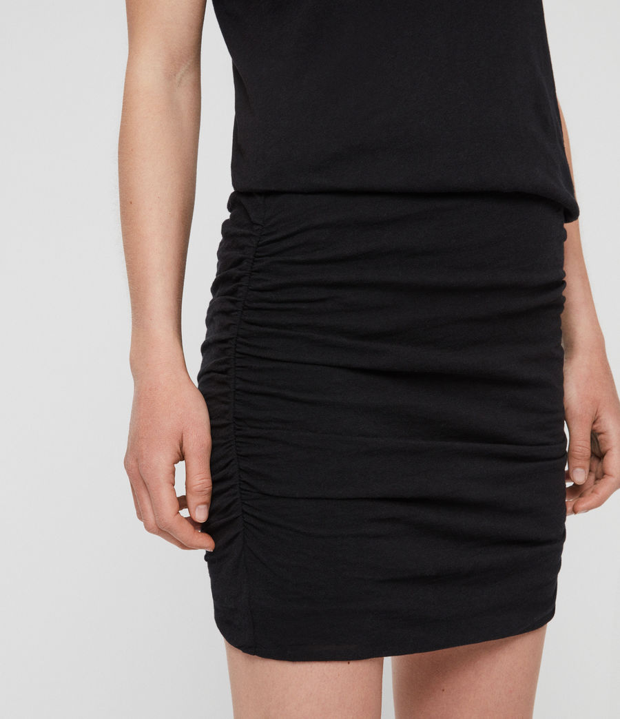 Womens Toby Dress (black) - Image 4