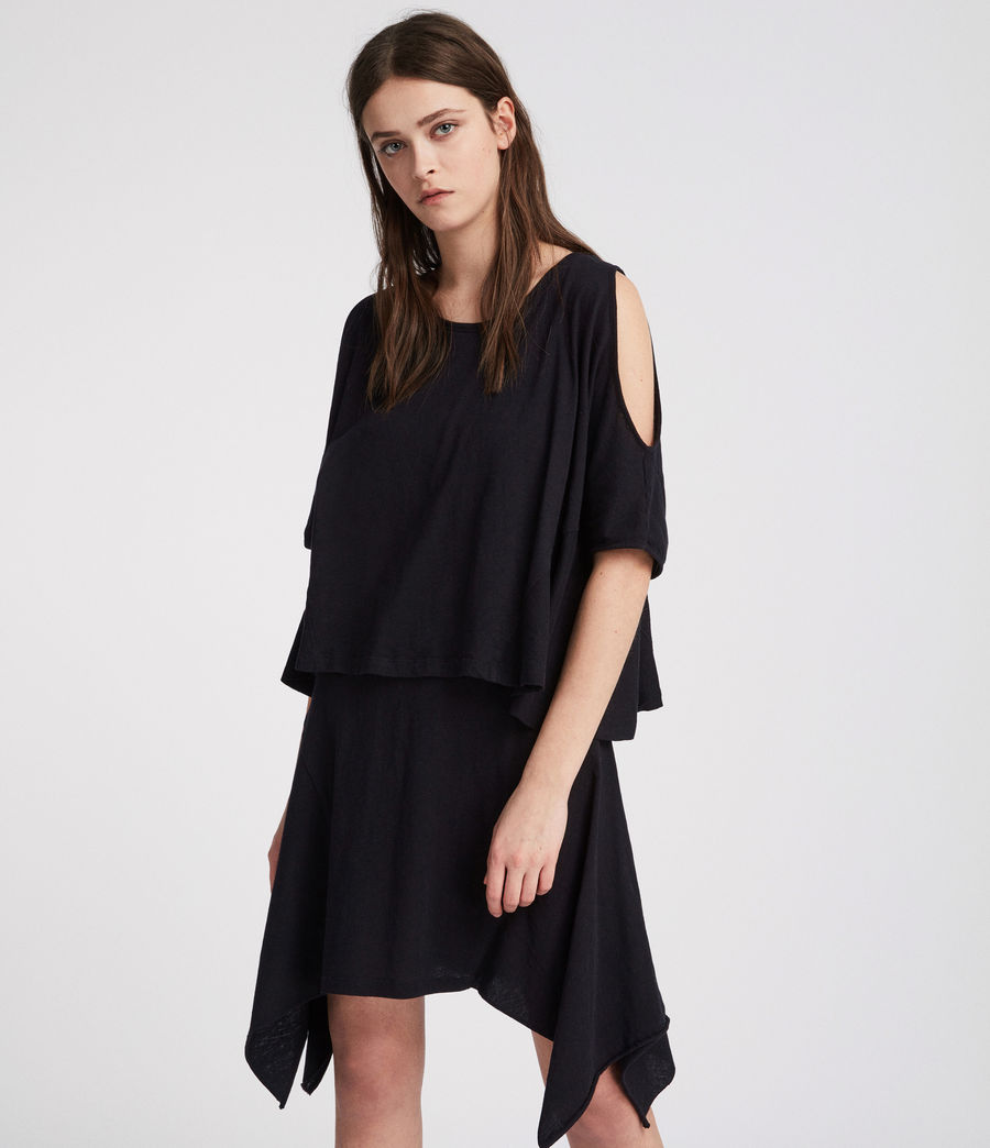 Women's Ella Fifi Tiered Dress (jet_black) - Image 2