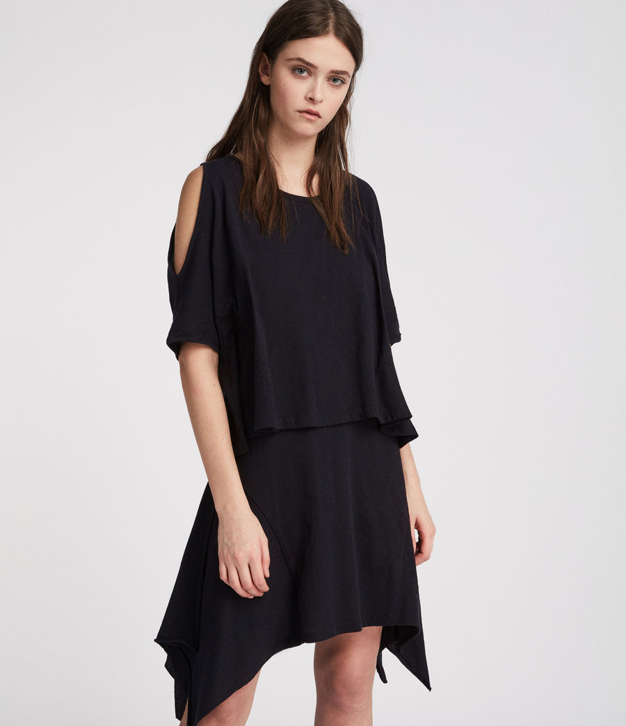 Women's Ella Fifi Tiered Dress (jet_black) - Image 3