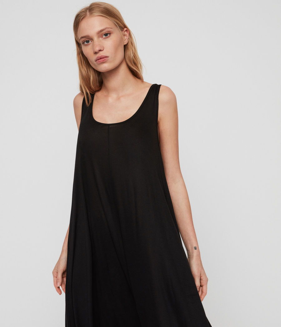Womens Frederike Dress (black) - Image 3