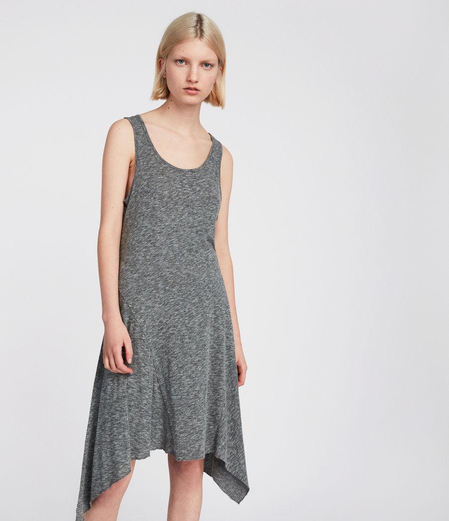 Womens Ella Flame Dress (grey_marl) - Image 2