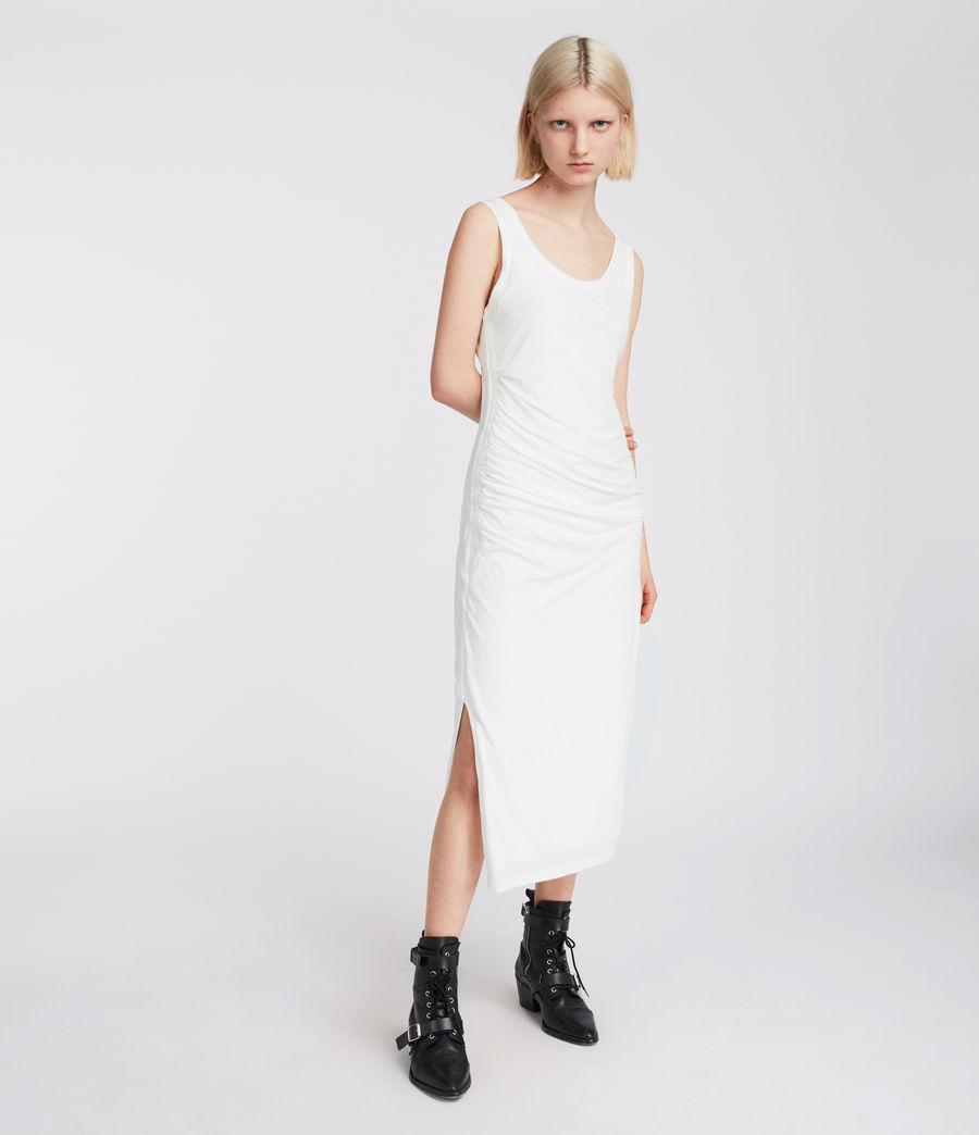 Womens Tina Dress (chalk_white) - Image 4