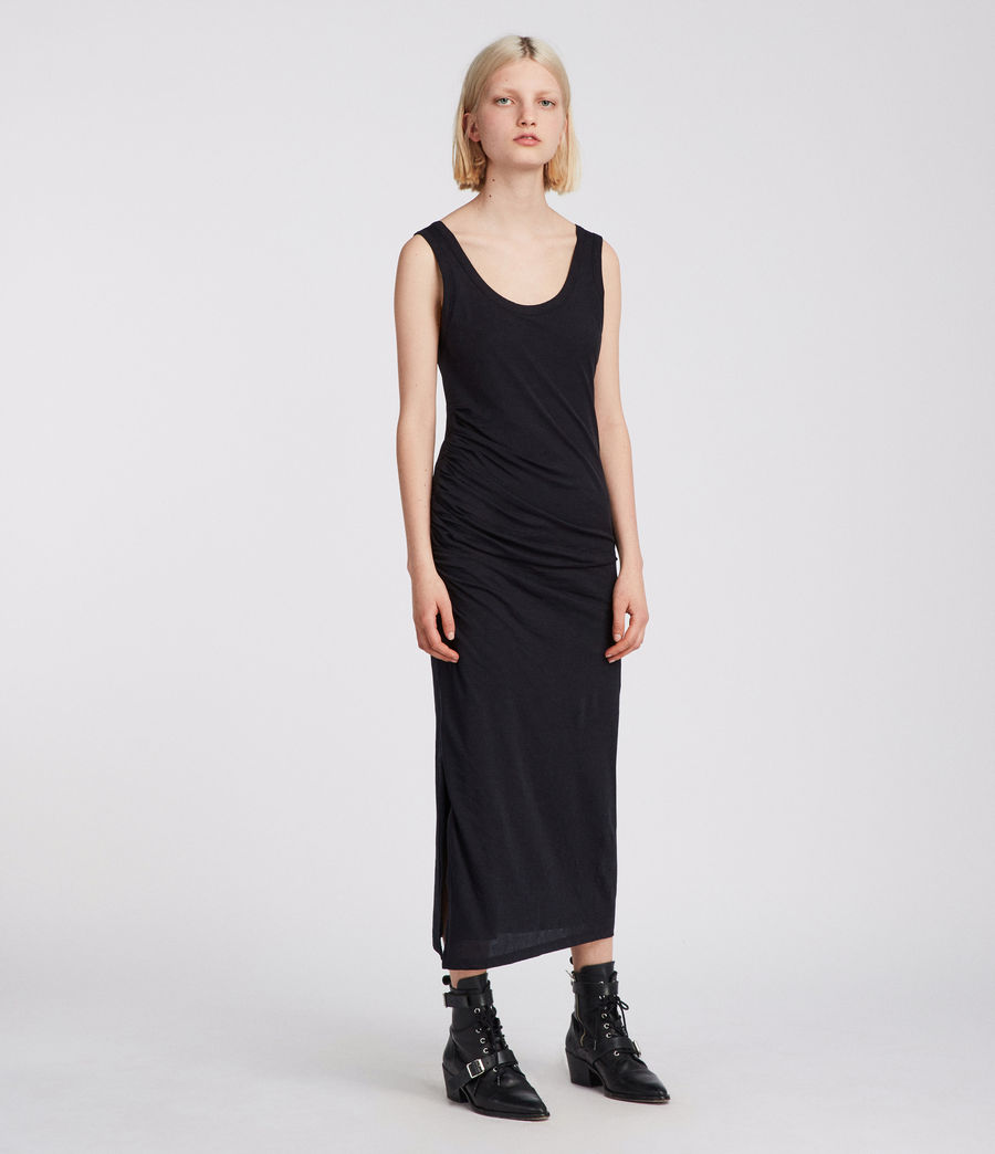 Womens Tina Dress (black) - Image 3